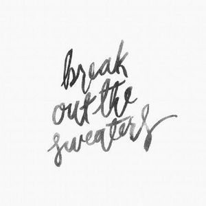 Sweater weather.🍁